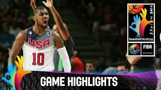 Watch the game highlights of the 2014 FIBA Basketball World Cup final between the USA and Serbia. The 2014 FIBA Basketball World Cup took place in Spain from...