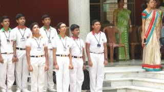 As the joyful day of the Fresher's Party ends, students of Techno India Group Public School, Hooghly stand up to sing the National Anthem. Do like the video ...