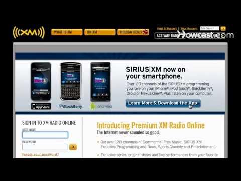how to locate xm radio id