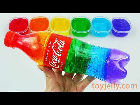 Video DIY How To Make Colors Slime Clay Giant Jelly Monster Cola Bottle Color Learning Video Kids Children download in MP3, 3GP, MP4, WEBM, AVI, FLV January 2017