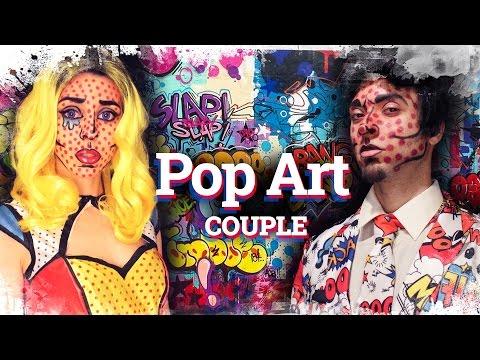 Comic Book / Pop art Makeup for couples | Como disfrazarse al estilo Pop Art