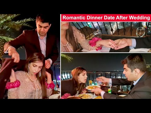 First Romantic Dinner Date With Kitchen With Amna After Wedding l Life With Umair