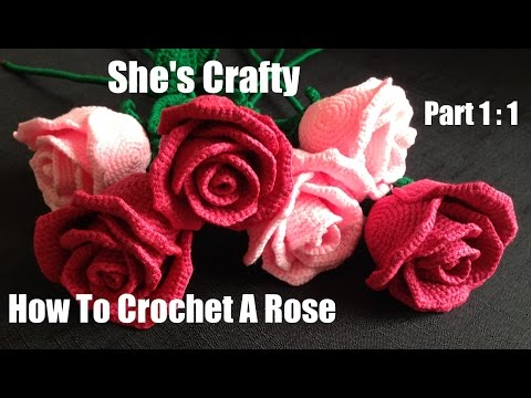 How To Crochet A Rose: Easy Crochet lessons to crochet flowers part 1:1