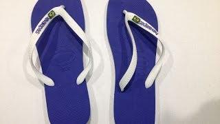 Havaianas Men's Brasil Logo Thong Flip Flop Unboxing