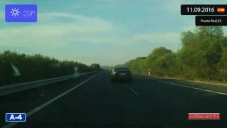 El Puerto de Santa Maria Spain  city photos : Driving from El Puerto de Santa María to Jerez de la Frontera (Spain) 11.09.2016 Timelapse x4