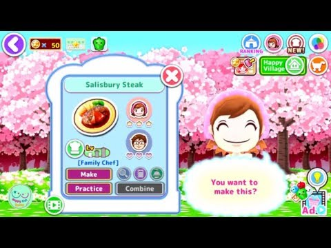 COOKING MAMA: Let's Cook Salisbury Steak Making Cooking Games For Kids IOS/ Android Gameplay Video