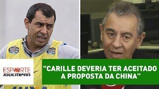 Comentarista Flavio Prado, da Rádio Jovem Pan, disse que Fábio Carille errou em não aceitar uma proposta do futebol chinês há um mês.