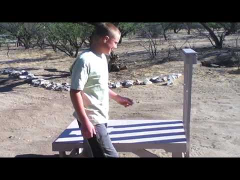 Pallet Building Construction - Homemade Stanchion