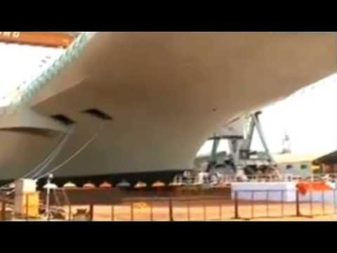 INS Vikrant India Built Aircraft Carrier INS Vikrant Launch Video Indigenous Aircraft Carrier