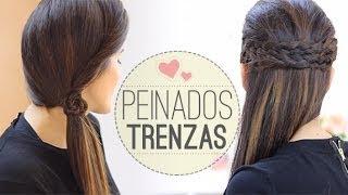 Peinados fáciles con trenzas | Para cada día - YouTube