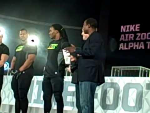 2010 Nike Football Media Summit - NFL Athletes Introduce Air Zoom Alpha Talon