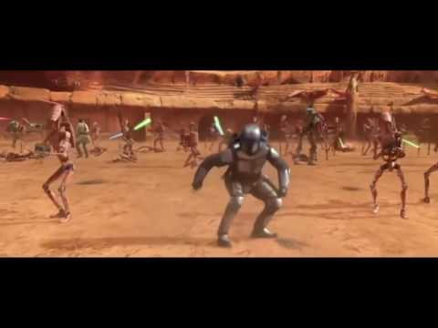 Battle of Geonosis but Every Time Anyone Gets Hit By Anything Jar Jar Screams