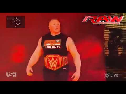 wwe raw 11 january 2018: Brock Lesnar vs. Kane - Triple H vs. Brock Lesnar