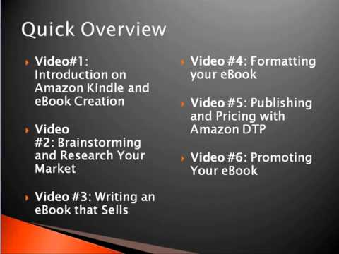<h1>Kindle Publishing, how to format and publish on Amazon Kindle platform</h1>