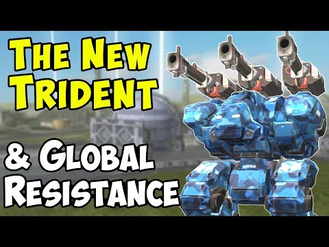 The New Trident & Resistance Update - War Robots Test Server WR