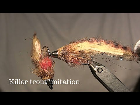 Killer trout streamer - Beginner fly tying instructions (видео)