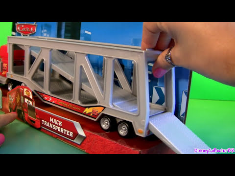 carro mcqueen - From disney pixar cars 2, this is the talking mack truck ramp playset from mattel toys. This Mack truck ramp transporter is a Walmart exclusive and transport...
