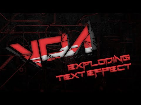Adobe Photoshop CS6 Tutorial: Exploding Text Effect