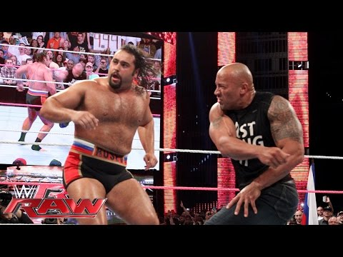 Raw - The People's Champ makes a surprise experience on Raw. See ALL Raw matches, only here - http://bit.ly/rawresults More ACTION on WWE NETWORK : http://bit.ly/1...