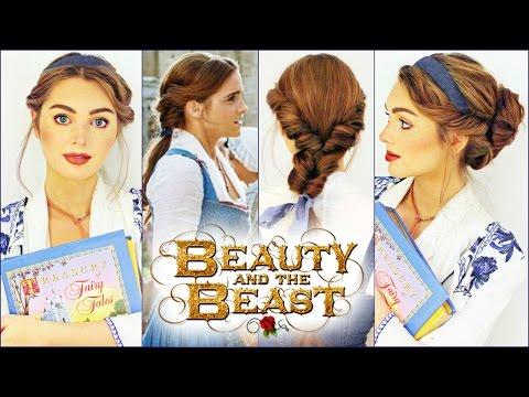 Emma Watson's Belle Hairstyles | Beauty & The Beast Tutorial鹿