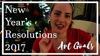 New Year's Resolutions 2017 // Art Goals