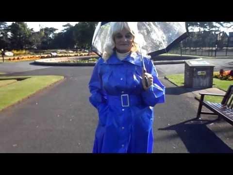 BLUE PVC MACKINTOSH