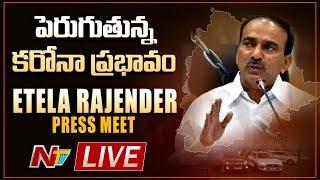 Etela Rajender Press Meet LIVE 16-04-2020   Coronavirus Situation in Telangana