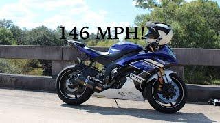 8. 146 MPH | 2013 Yamaha R6 | Second Gear Pull | Drag Race