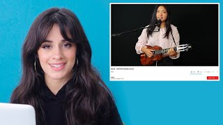 Video Camila Cabello Watches Fan Covers On YouTube | Glamour MP3, 3GP, MP4, WEBM, AVI, FLV Juni 2018