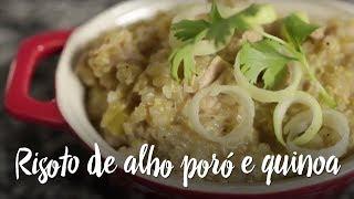 Experimente - Risoto de alho poró e quinoa
