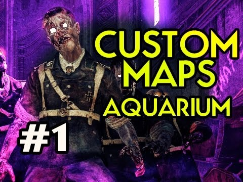 Custom Nazi Zombies Maps: Aquarium w/ Kootra Ep.1 - WHAT A MAN DOES FOR HIS PIZZA Video