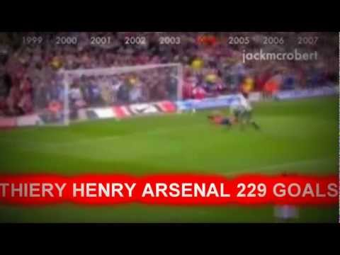Thierry Henry - 229 Goals For Arsenal In 14 Minutes