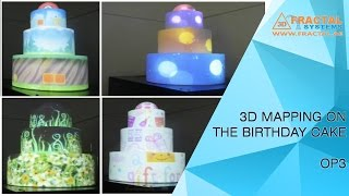 3D Projection Mapping on Birthday Cake - OP3