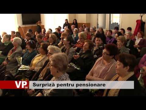 Surpriză pentru pensionare