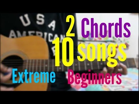2 Chords / 1 Trick – 10 Songs – BEST Hindi Songs Super Beginners type cover mashup