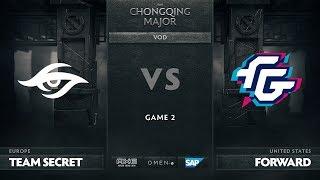 Team Secret vs Forward Gaming, Game 2, The Chongqing Major Group B