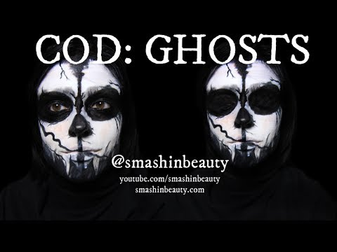 Call of Duty Ghosts Ghost Mask Halloween Makeup Tutorial 2014