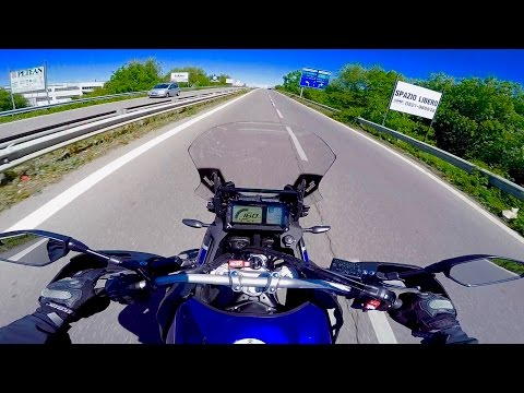 Yamaha Tenerè XTZ 1200 my 2017 || MOST AGGRESSIVE POV RIDE & First Impressions