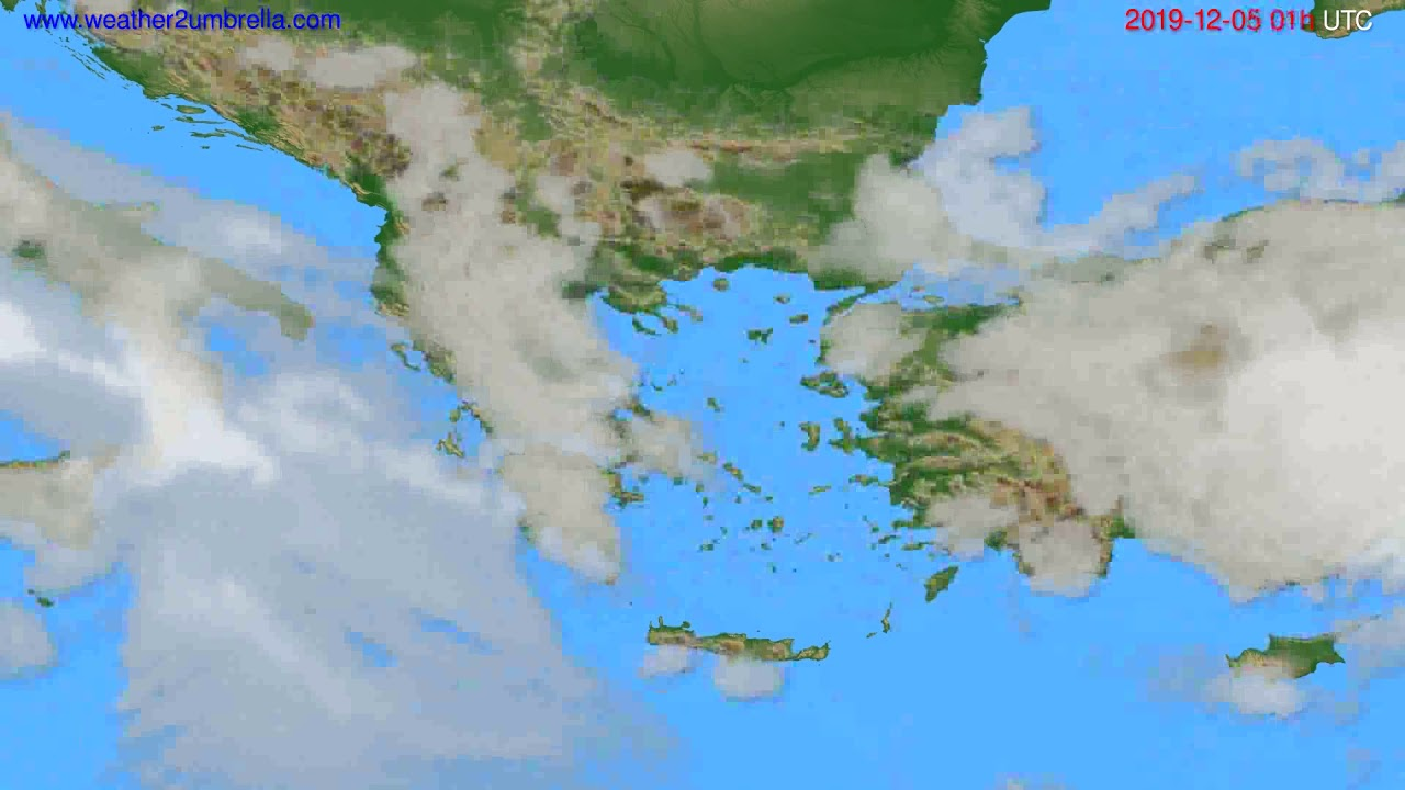 Cloud forecast Greece // modelrun: 00h UTC 2019-12-04
