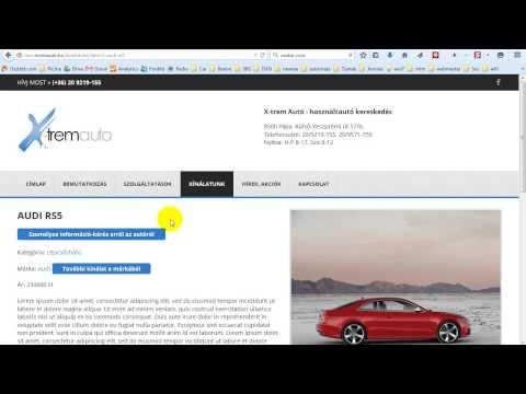 Honlap kínálat kezelés DJCatalog2 komponenssel (autó)