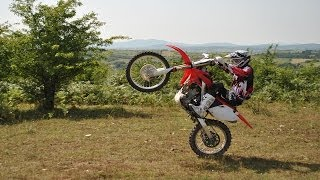 5. Learning to Wheelie a Dirt Bike [Honda CRF250R]
