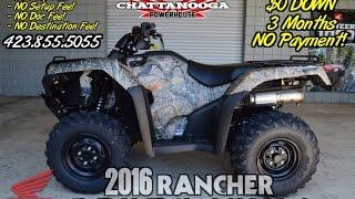 9. 2016 Rancher 420 Start Up Video - ATV SALE @ Honda of Chattanooga TN GA AL (TRX420FA6G)