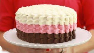3-Layer Neapolitan Cake (Chocolate, Vanilla & Strawberry): Bigger Bolder Baking's 4th Birthday!!! by Gemma's Bigger Bolder Baking