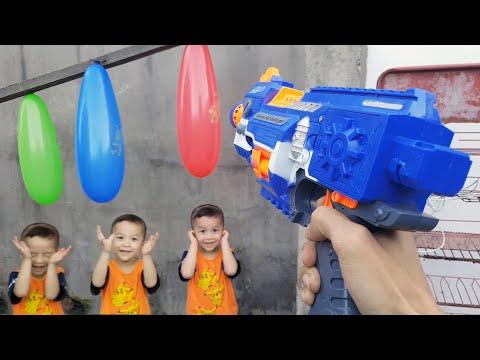 Trò Chơi Bạn Ken Ở Nhà CHơi Nerf ❤ ChiChi ToysReview TV ❤ Đồ Chơi Fun Song Bài Hát