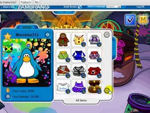 Regalo pingüino de club penguin julio 2013 con ropa de socio