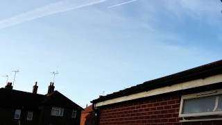 Mansfield United Kingdom  city photo : BIG CHEMTRAIL IN MANSFIELD UK