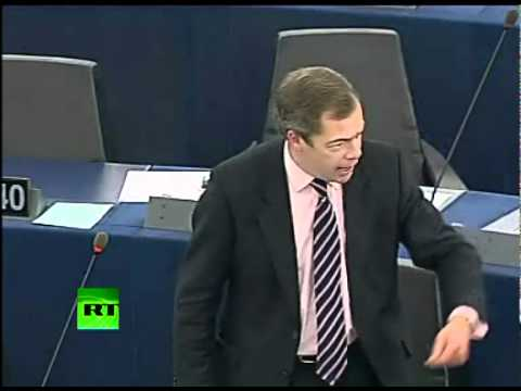 %27Who the Hell You Think You Are%3F%27 Nigel Farage throws egg in Eurocrat faces