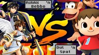 [Dat last hit] MiRAX (Pit) & Bebbo (Dark Pit) vs Dul (Villager) & Spat (Diddy Kong)