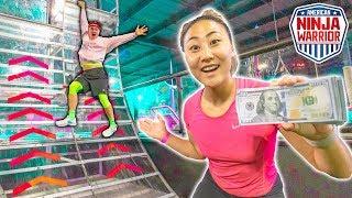 Video $10,000 NINJA WARRIOR CHALLENGE!! MP3, 3GP, MP4, WEBM, AVI, FLV Juli 2019