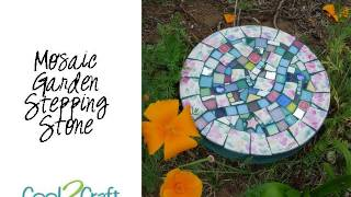 How to Make a Mosaic Stepping Stone by EcoHeidi Borchers - YouTube